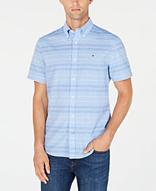 Tommy Hilfiger Men's Leland Madras Striped Shirt, Created for Macy's
