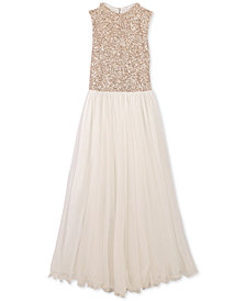 Speechless Big Girls Sequin-Bodice Maxi Dress