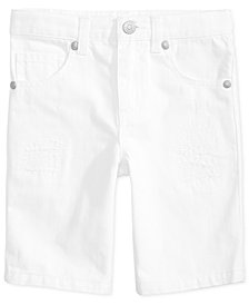 Epic Threads Little Boys White Denim Shorts, Created for Macy's