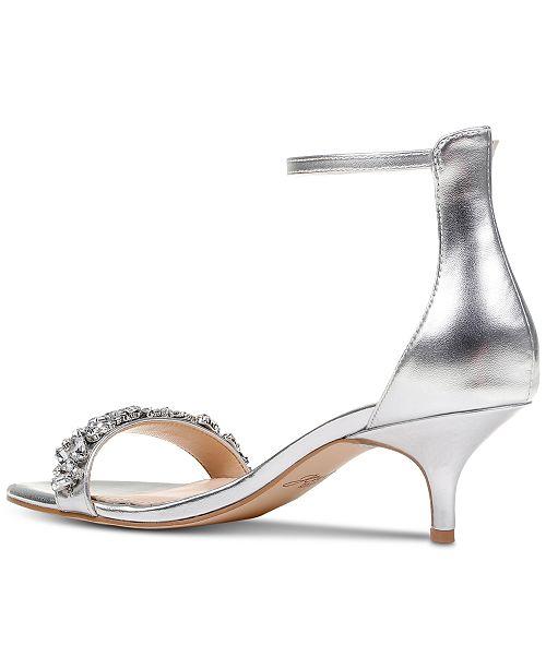 Silver Shoes Kitten Heel