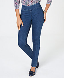 Charter Club Pull-On Skinny Jeans, Created for Macy's