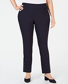 Charter Club Plus Size Slim-Leg Pants, Created for Macy's