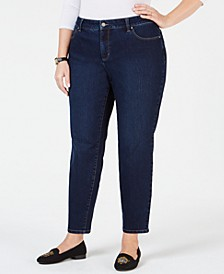Plus Size Straight-Leg Ankle Jeans, Created for Macy's
