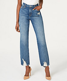 I.N.C. High-Waisted Straight-Leg Jeans, Created for Macy's