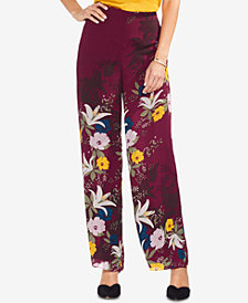 Vince Camuto Wide-Leg Floral-Print Pants