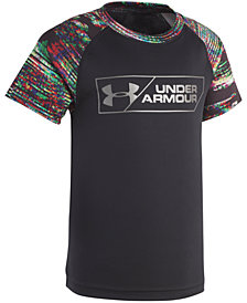 Under Armour Toddler Boys Static Digital Logo-Print T-Shirt