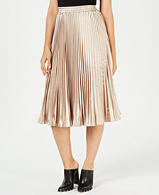 Lucy Paris Noelle Pleated Midi Skirt