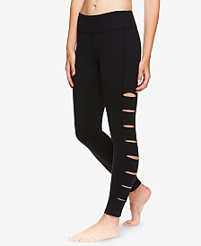 Gaiam X Jessica Biel High-Rise Cutout Ankle Leggings
