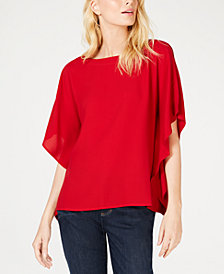 Eileen Fisher Silk Boat-Neck Top, Regular & Petite