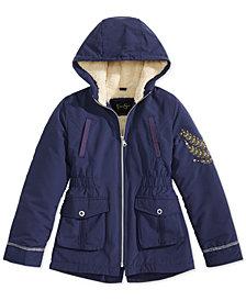 Jessica Simpson Embossed Hooded Jacket