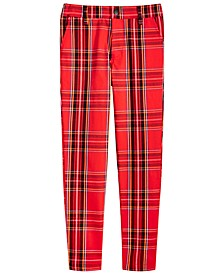 Big Boys 4-Pocket Plaid Pants