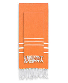 Linum Home Alara Turkish Pestemal Beach Towel Set