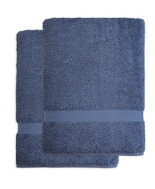 Linum Home Herringbone 2-Pc. Bath Sheet Set