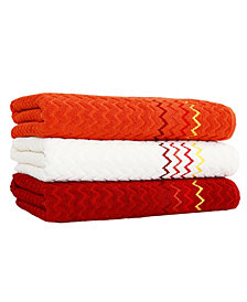 Linum Home Textiles Montauk Bath Towels Set of 3 - Assorted Colors
