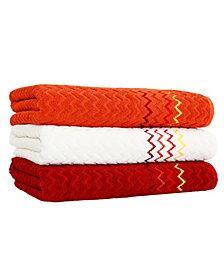 Linum Home Montauk 3-Pc. Multicolored Bath Towel Set