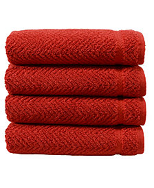 Linum Home Herringbone Hand Towels Set of 4
