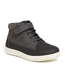 Little and Big Boys Niles Memory Foam Dress Casual Comfort High Top Sneaker Boot