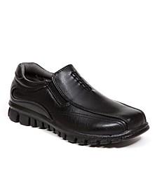 Little and Big Boys Stadium Sneaker Bottom Dress Comfort Slip-On