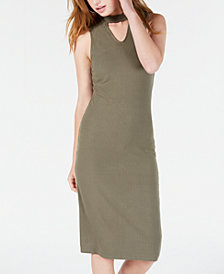 Material Girl Juniors' Mock-Neck Bodycon Dress, Created for Macy's