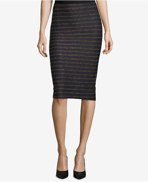 1f8b1a08cff ECI Metallic Striped Pull-On Pencil Skirt - Skirts - Women - Macy s