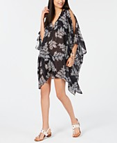 741e3e04fbc68 Tommy Hilfiger Printed Chiffon Cold-Shoulder Cover-Up