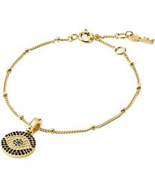 Michael Kors Custom Kors Women 14K Gold-Plated Sterling Silver Evil Eye Bracelet