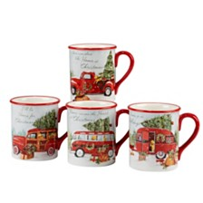 Certified International Home for Christmas 4-Pc. Mug asst.