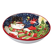 Certified International Starry Night Snowman 4-Pc. Soup/Pasta Bowl