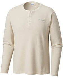 Columbia Men's Big and Tall Waffle-Knit Ketring Henley