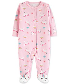 Carter's Baby Girls Unicorn-Print Cotton Coverall