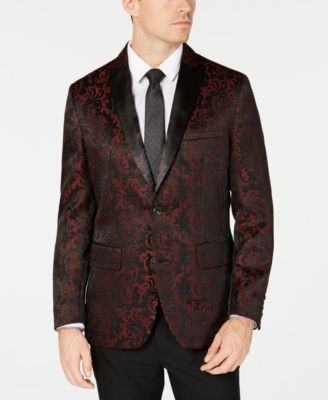INC Men's Slim-Fit Jacquard Blazer, Created for Macy's