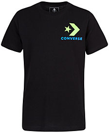 Converse Bigs Boys Multicolor Chevron Graphic T-Shirt