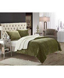 Chic Home Evie Sherpa Blanket Bedding Collection