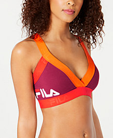 Fila Colorblocked Low-Impact Strappy-Back Sports Bra