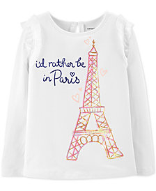 Carter's Little & Big Girls I'd Rather Be in Paris Graphic Top