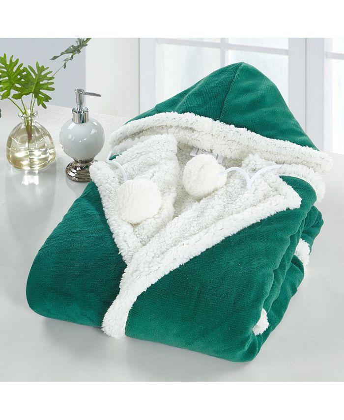 Chic Home - Nava 1-Pc. 51x71 Hooded Snuggle