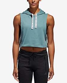 adidas Fighter Sleeveless Cropped Hoodie