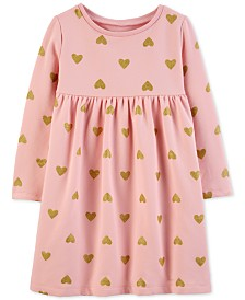 Carter's Toddler Girls Heart-Print Fleece Dress