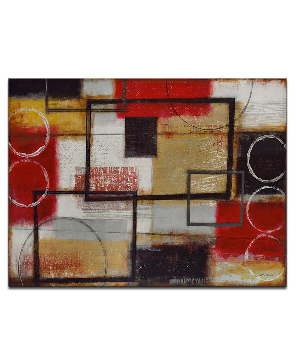 Ready2HangArt Excite Red Abstract Canvas Wall Art, 20x30""