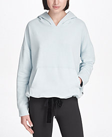 DKNY Sport French Terry Velvet-Tie Hoodie, Created for Macy's