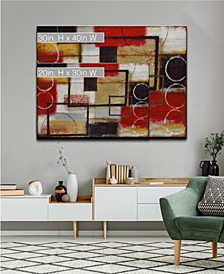Excite Red Abstract Canvas Wall Art Collection