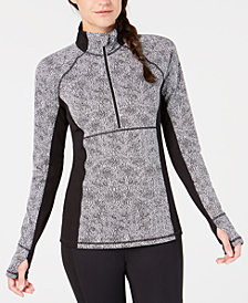 Ideology Colorblocked Half-Zip Top, Created for Macy's