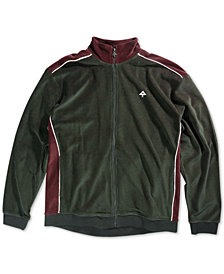 LRG Men's Payback Velour Track Jacket