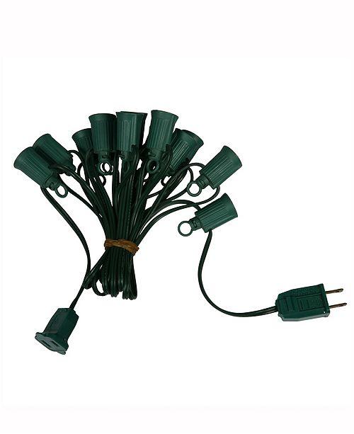 Vickerman Commercial C9 100' Spt2 Socket On Green Wire