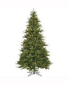 9 ft Mixed Country Pine Slim Artificial Christmas Tree With 950 Clear Lights