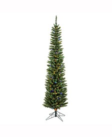 5.5 ft Durham Pole Artificial Christmas Tree With 150 Multi-Colored Led Lights
