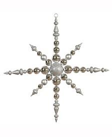 "43"" Silver 3-Finish Snowflake Christmas Ornament"