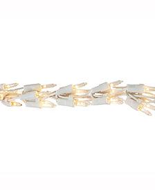 Vickerman 300 Clear Mini-Light Garland On White Wire, 9' Christmas Light Strand