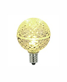 Warm White Faceted G40 Led Replacement Bulb, 5 Per Bag