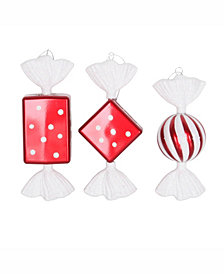 "Vickerman 8"" Red-White Candy Christmas Ornament"